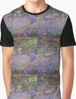 Claude Monet  -The Artists Garden At Giverny  Graphic T-Shirt