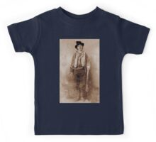 WANTED, Billy the Kid, Henry McCarty, William H. Bonney, Cowboy, American, Outlaw, Wild West Kids Tee
