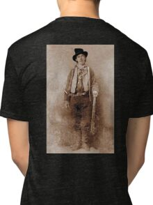 WANTED, Billy the Kid, Henry McCarty, William H. Bonney, Cowboy, American, Outlaw, Wild West Tri-blend T-Shirt
