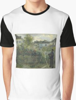 Claude Monet - Monet Painting in his Garden At Argenteuil  Graphic T-Shirt