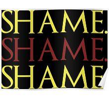 Shame. Shame. Shame. Poster
