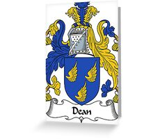 Dean Coat of Arms / Dean Family Crest Greeting Card