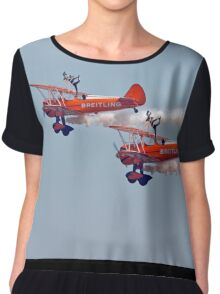 Biplane Wing walkers air show display Chiffon Top