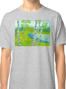 The birch tree forest Classic T-Shirt