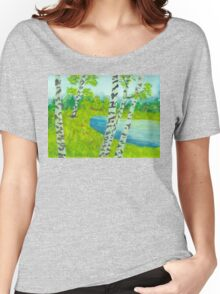 The birch tree forest Women's Relaxed Fit T-Shirt
