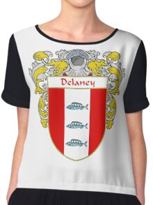 Delaney Coat of Arms/Family Crest Chiffon Top