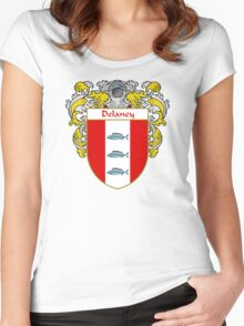 Delaney Coat of Arms/Family Crest Women's Fitted Scoop T-Shirt