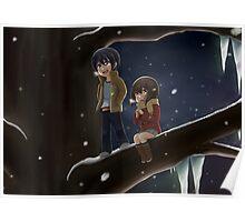 Satoru and Kayo - Christmas Tree Poster