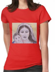 Mary and Jesus Womens Fitted T-Shirt