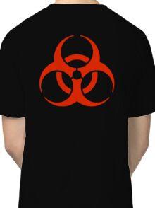 BIO HAZARD, Warning, Biohazard symbol, Biological hazard, in red & black Classic T-Shirt