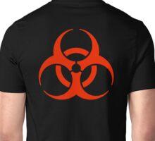 BIO HAZARD, Warning, Biohazard symbol, Biological hazard, in red & black Unisex T-Shirt