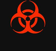 BIO HAZARD, Warning, Biohazard symbol, Biological hazard, in red & black Unisex T-Shirt
