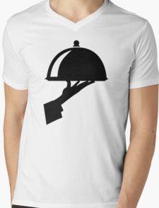 Server waiter Mens V-Neck T-Shirt