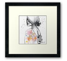 Implosion, watercolor artwork  Framed Print