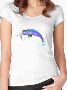 Ocean Blue Koi Carp Women's Fitted Scoop T-Shirt