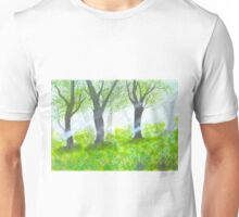 Forest with sunlight.  Unisex T-Shirt