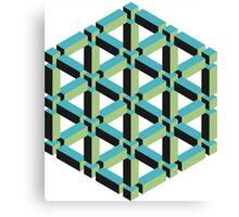 Isometric Cube Canvas Print