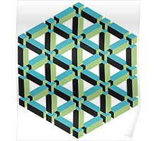 Isometric Cube Poster