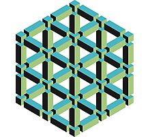 Isometric Cube Photographic Print