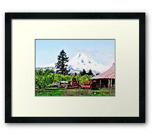Farming In Parkdale Oregon Framed Print