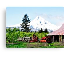 Farming In Parkdale Oregon Canvas Print