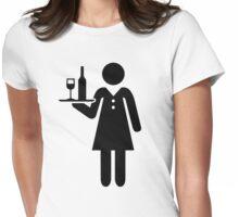 Waitress server Womens Fitted T-Shirt