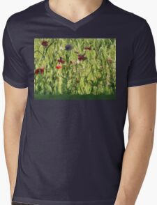Gleeful Garden Mens V-Neck T-Shirt