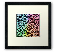Colorful Leopard Animal Print Framed Print