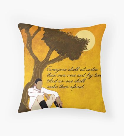 Vine and Fig Tree Artwork Throw Pillow