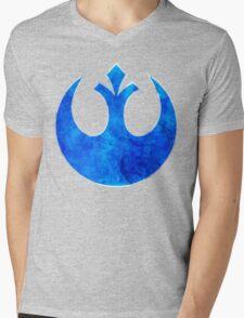Rebel Alliance blue starbird Mens V-Neck T-Shirt