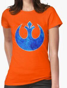 Rebel Alliance blue starbird Womens Fitted T-Shirt