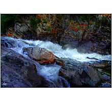 Banded Rock at Livermore Falls Photographic Print
