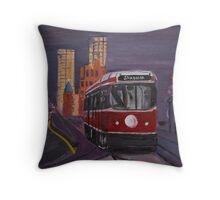 Streetcar on Spadina Throw Pillow
