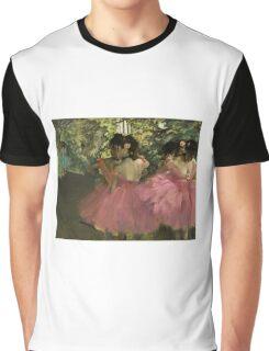 Edgar Degas - Dancers In Pink Graphic T-Shirt