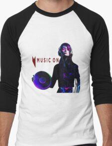 MUSIC ON Men's Baseball ¾ T-Shirt