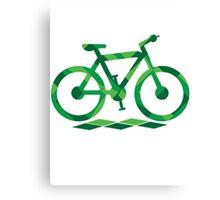 Abstract Green Bike Canvas Print