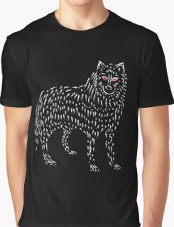 Ghost Game Of Thrones Direwolf Design Graphic T-Shirt