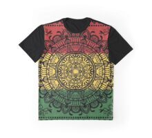 Rasta Mandala Graphic T-Shirt