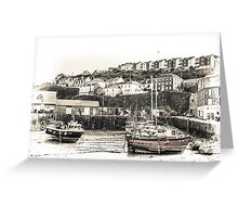 In the Harbour - Cornwall Greeting Card