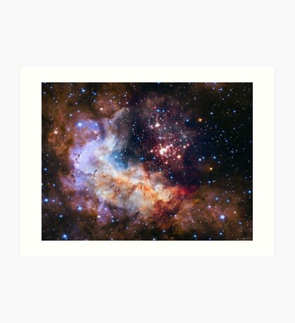 Hubble's 25th Birthday Gift to Us! Art Print