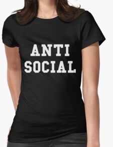 Anti Social Womens Fitted T-Shirt