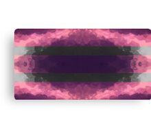Purple & Monochrome Symmetrical Pattern Canvas Print