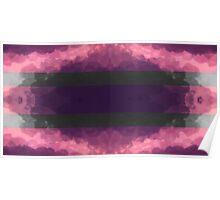Purple & Monochrome Symmetrical Pattern Poster
