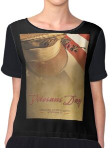 Veterans Day 2016 Bronze Star (valor) Poster Chiffon Top