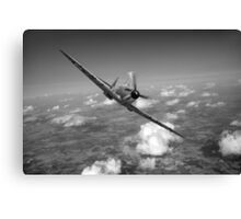 Battle of Britain Spitfire black and white version Canvas Print