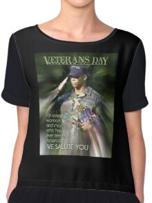 Veterans Day 2016 Poster Chiffon Top