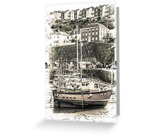 All Lined Up - Cornwall Greeting Card