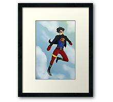 90s Superboy Framed Print