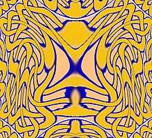 A Celtic Knot design in Blue and Gold (2) for skirts, leggings and all other designs by Dennis Melling