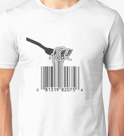 spaghetti bar code Unisex T-Shirt